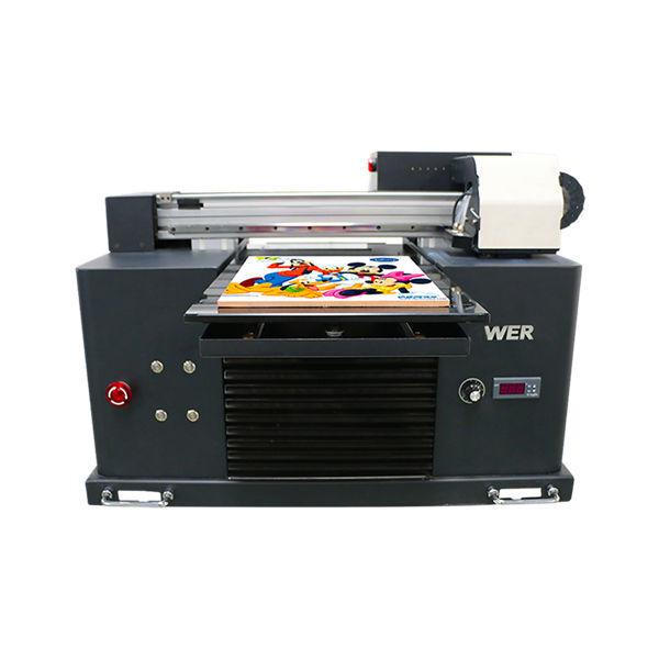 ए 3 आकार पूर्ण स्वयंचलित 4 रंग डीएक्स 5 प्रिंटर हेड मिनी यूव्ही प्रिंटर डीटीजी यूव्ही फ्लॅटबे