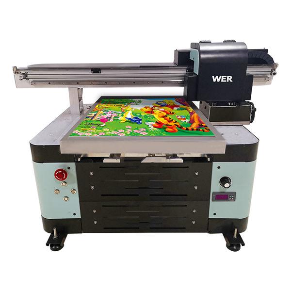 हॉट विक्री नवीन डिझाइन a2 आकार डिजिटल यूव्ही फ्लॅटबड प्रिंटर