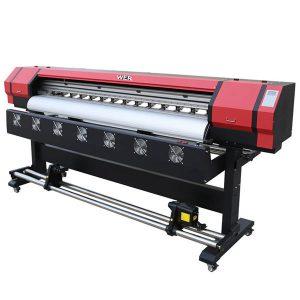 4 रंग सीएमवायके मोठे स्वरूप इको दिवाळखोर प्रिंटर फ्लेक्स बॅनर प्रिंटिंग मशीन