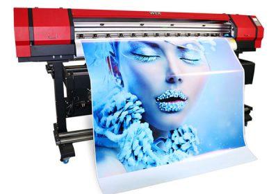 1.6m घराच्या अंतर्गत इको विलायक लहान पीव्हीसी विनाइल प्रिंटर